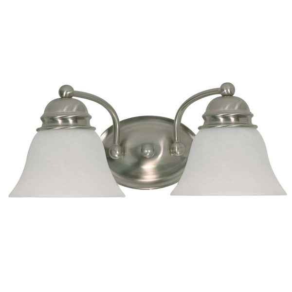 Nuvo Empire - 2 Light - 15 inch - Vanity - w/ Alabaster Glass Bell Shades