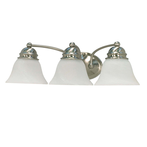 Nuvo Empire - 3 Light - 21 inch - Vanity - w/ Alabaster Glass Bell Shades