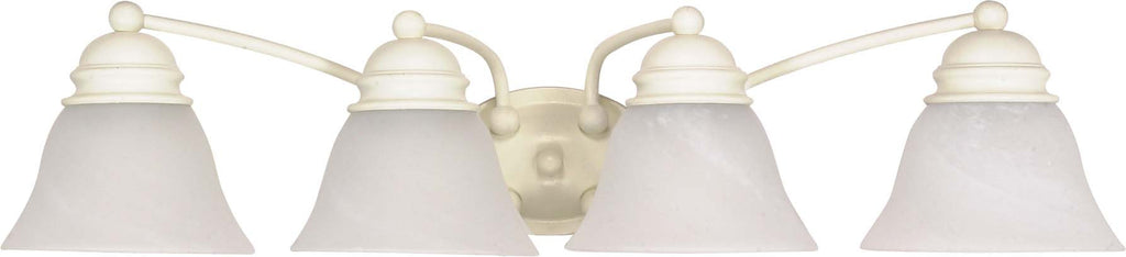Nuvo Empire - 4 Light - 29 inch - Vanity - w/ Alabaster Glass Bell Shades
