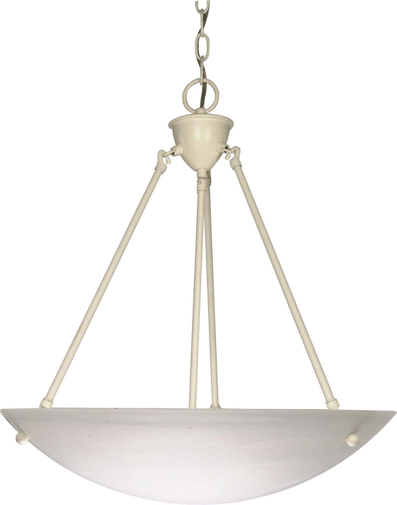 Nuvo 3 Light - 23 inch - Pendant - Alabaster Glass Bowl