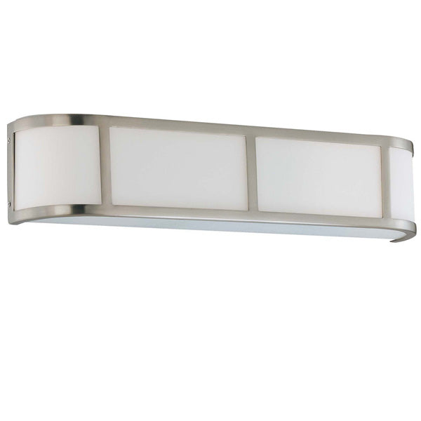 Nuvo Odeon ES - 3 Light Wall Sconce w/ White Glass - (3) 13w GU24 Lamps Included