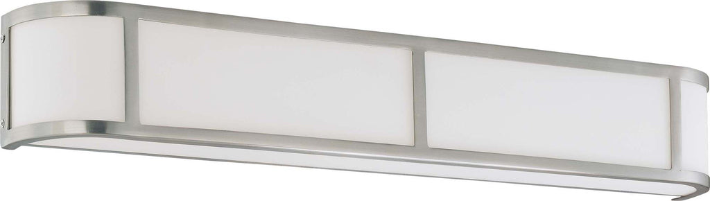 Nuvo Odeon ES - 4 Light Wall Sconce w/ White Glass - (4) 13w GU24 Lamps Included