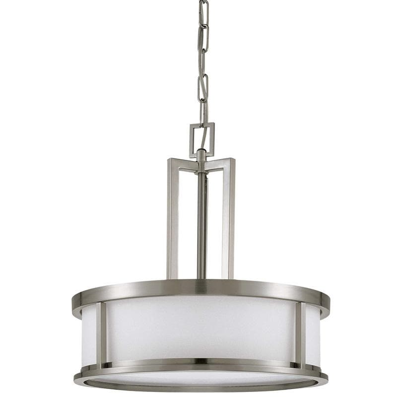 Nuvo Odeon ES - 4 Light Pendant w/ White Glass - (4) 13w GU24 Lamps Included