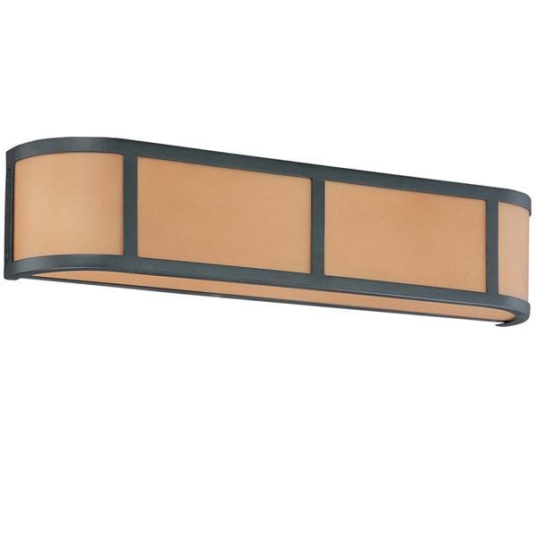 Nuvo Odeon ES - 3 Light Wall Sconce w/ Parchment Glass - (3) 13w GU24 Lamps Included