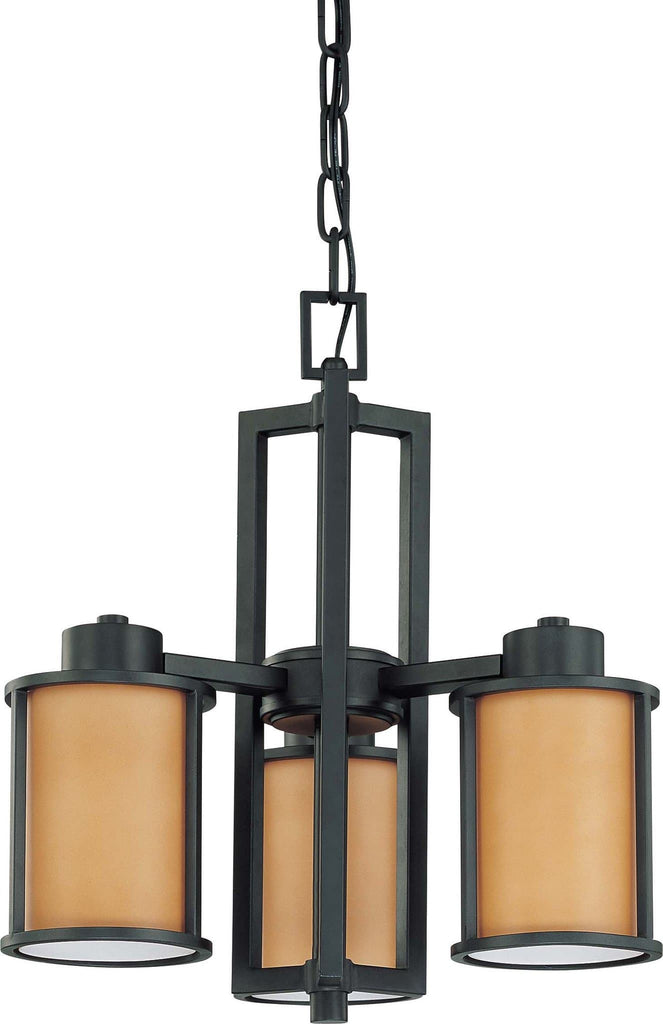 Nuvo Odeon ES - 3 Light Chandelier w/ Parchment Glass - (3) 13w GU24 Lamps Included