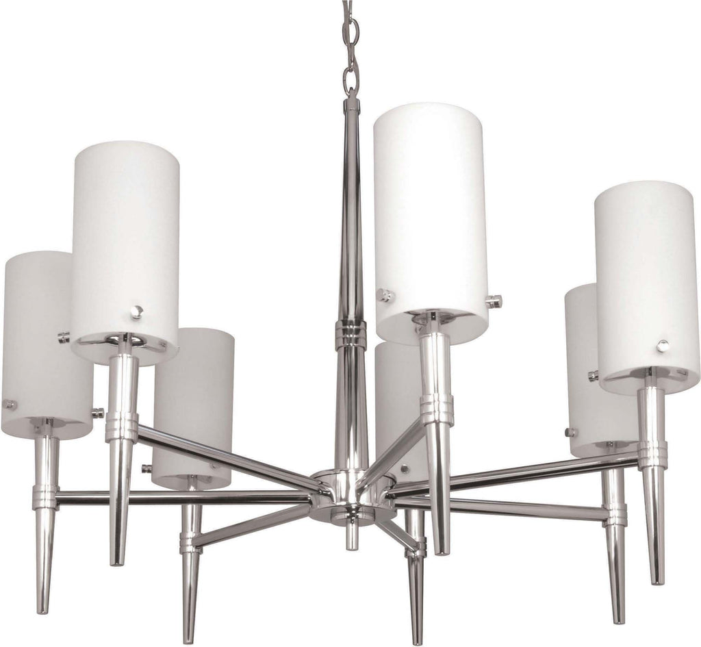 Nuvo Jet ES - 7 Light 30 inch Chandelier w/ Satin White Glass - (7) 13w GU24 Lamps Included