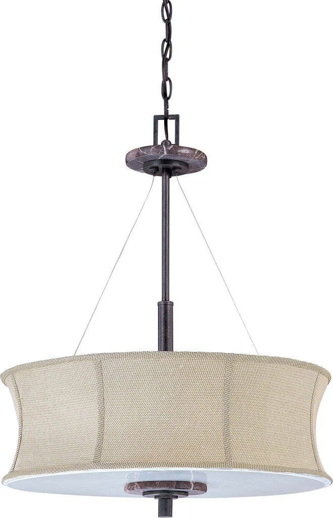Nuvo Madison ES - 4 Light Pendant w/ Grey Fabric Shade - (4) 13w GU24 Lamps Included