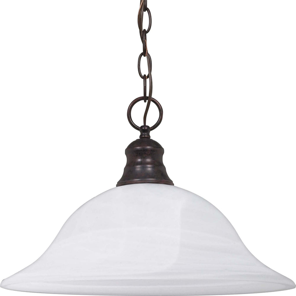 Nuvo 1 Light - 16 inch - Pendant - Alabaster Glass