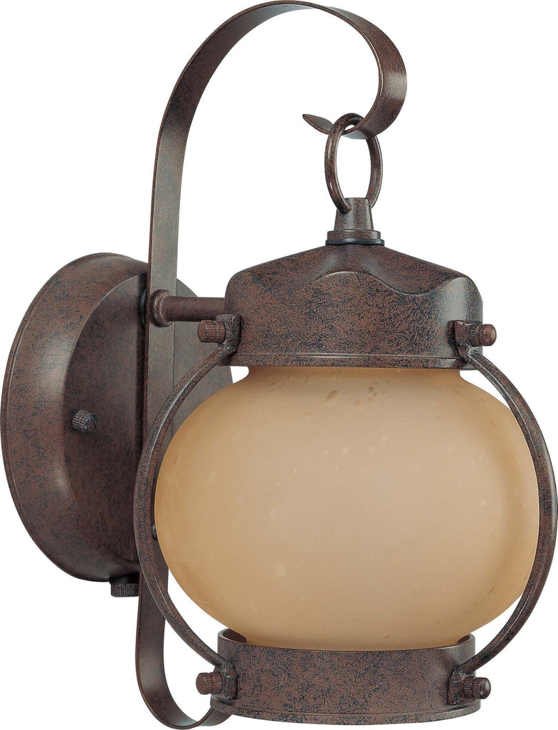Nuvo 1 Light Onion Outdoor Wall w/ Frosted Glass - (1) 13w GU24 Lamp Included