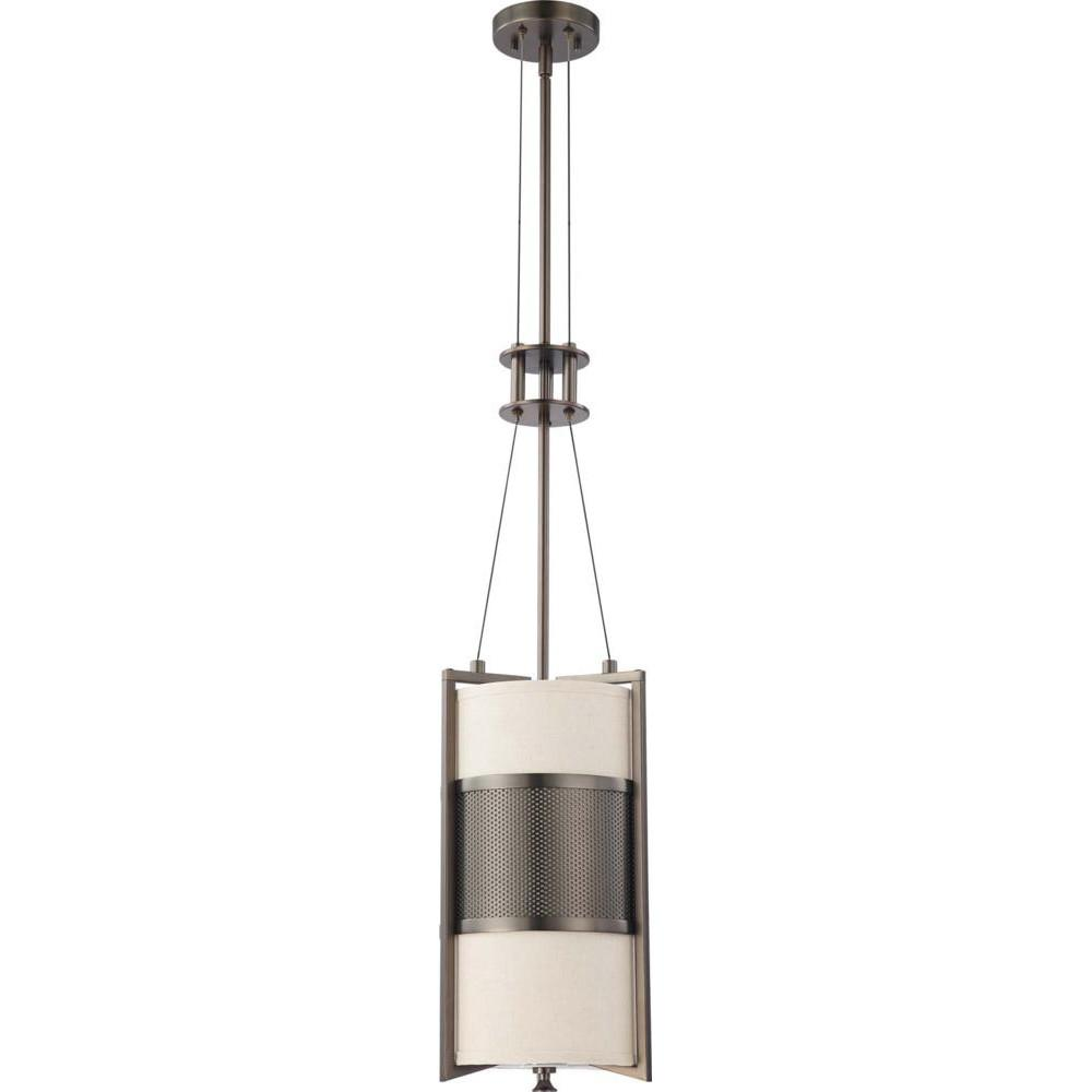 Nuvo Diesel ES - 1 Light Vertical Pendant w/ Khaki Fabric Shade - (1) 23w GU24 Lamp Included