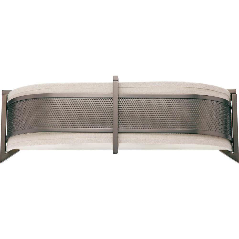 Nuvo Diesel ES - 3 Light Horizontal Sconce w/ Khaki Fabric Shade - (3) 13w GU24 Lamps Incl.