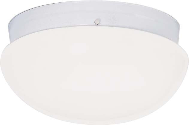 "Nuvo 2-Light 12"" Large Flush Mount w/ White Mushroom Glass in White Finish"