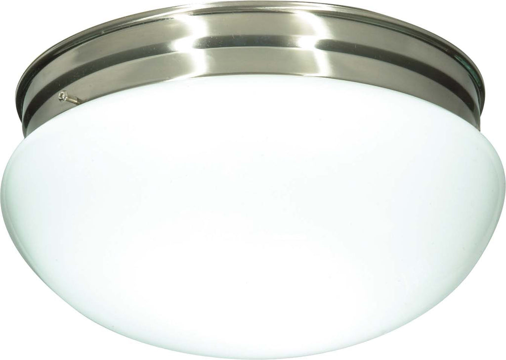 Nuvo 2 Light Cfl - 12 inch - Large White Mushroom - (2) 18W GU24 Lamps Included