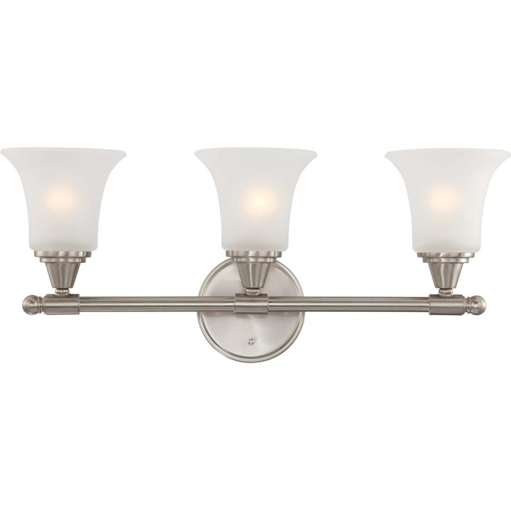 Nuvo Surrey - 3 Light Vanity Fixture w/ Frosted Glass