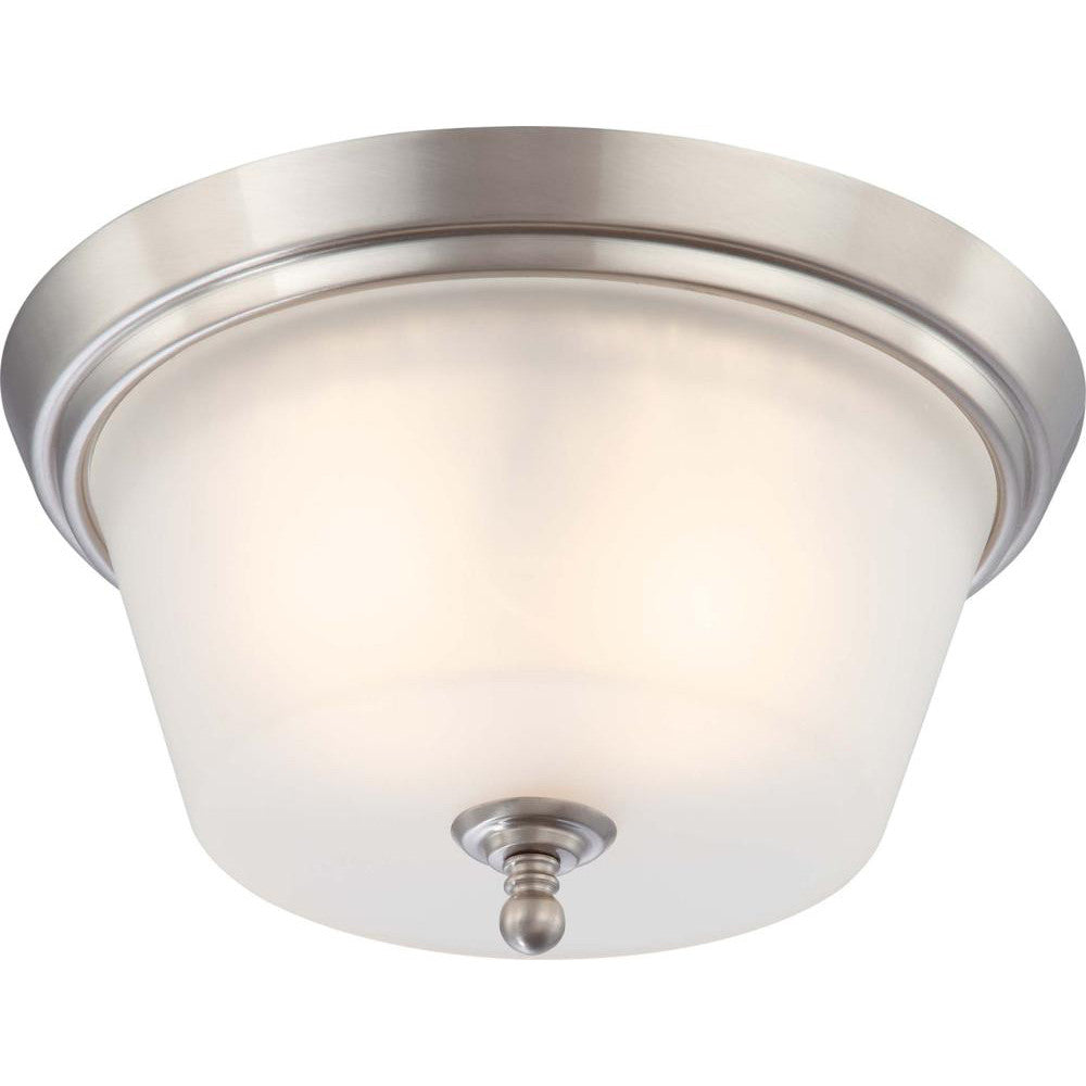 Nuvo Surrey - 2 Light Flush Dome Fixture w/ Frosted Glass