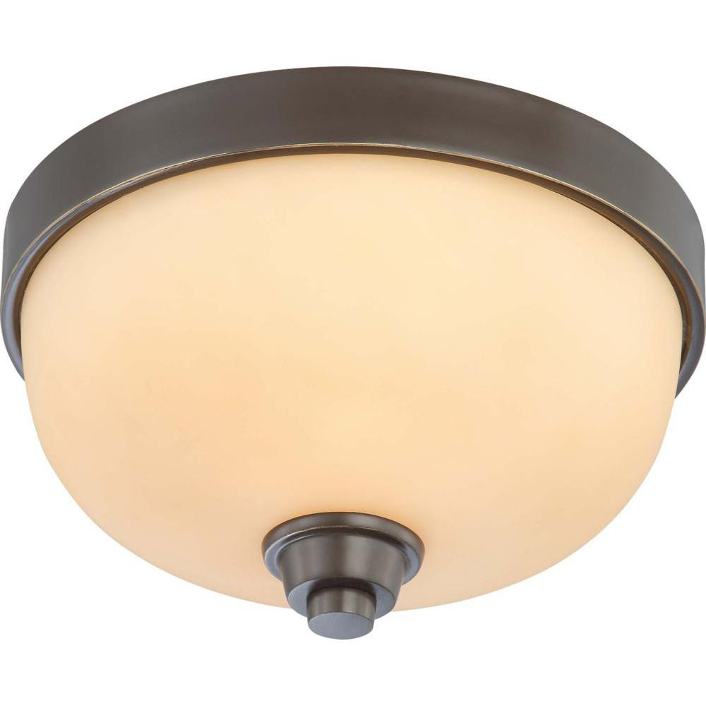 Nuvo Helium - 1 Light Flush Dome Fixture w/ Cream Beige Glass
