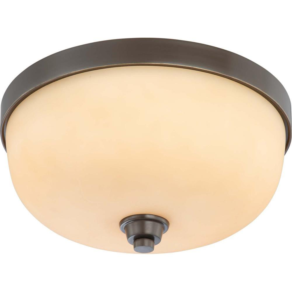 Nuvo Helium - 3 Light Flush Dome Fixture w/ Cream Beige Glass