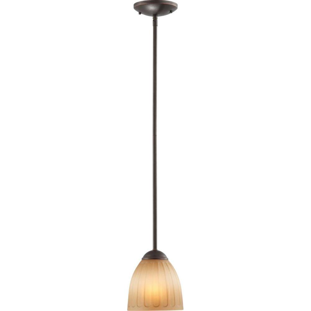 Nuvo Carousel - 1 Light Mini Pendant w/ Auburn Beige Glass