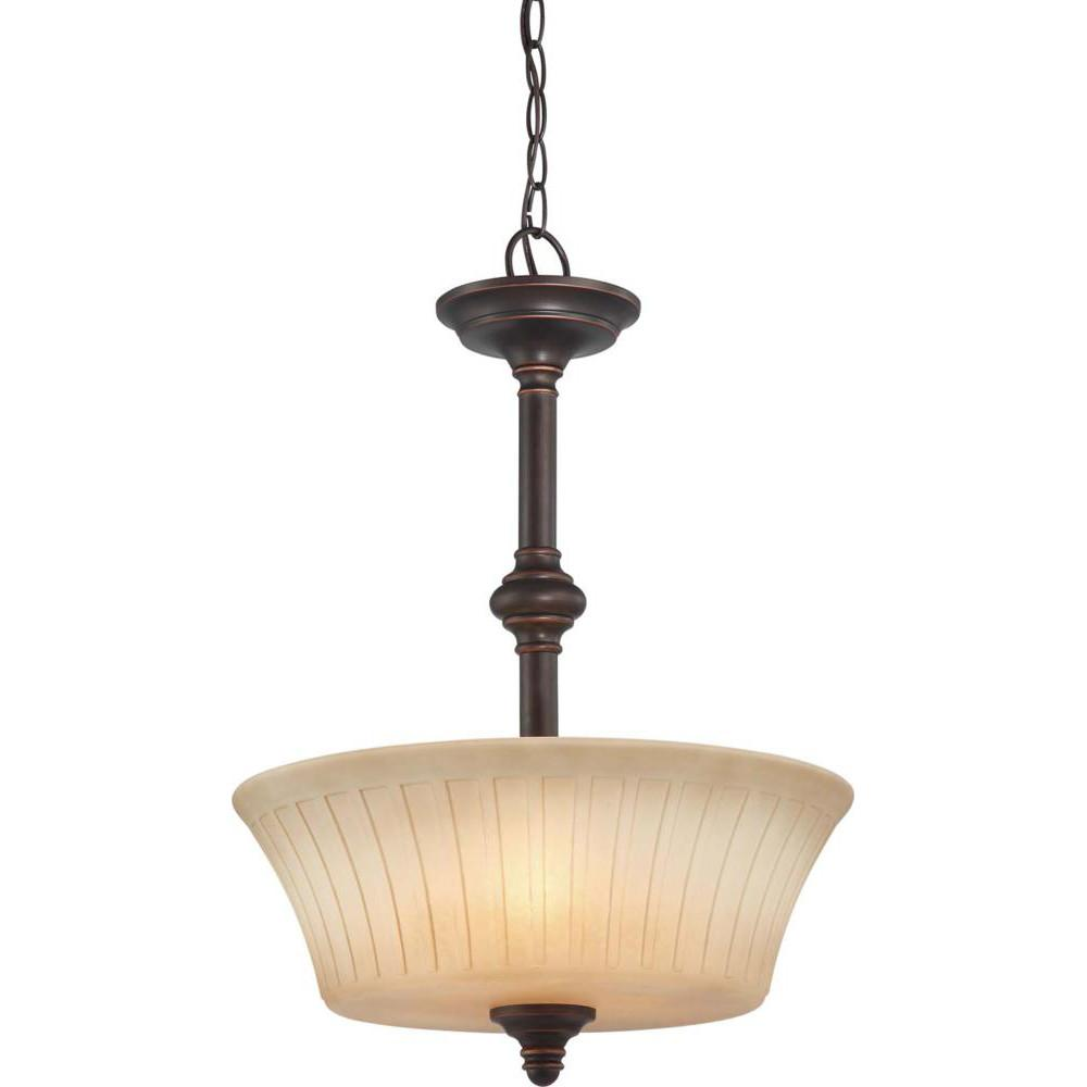 Nuvo Franklin - 3 Light Pendant w/ Sienna Glass