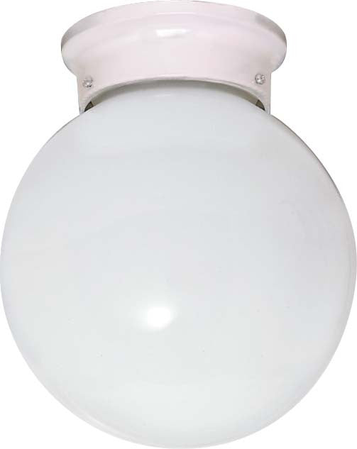 Nuvo 1 Light Cfl - 8 inch - Flush Mount - White Ball - (1) 13W GU24 Lamps Included