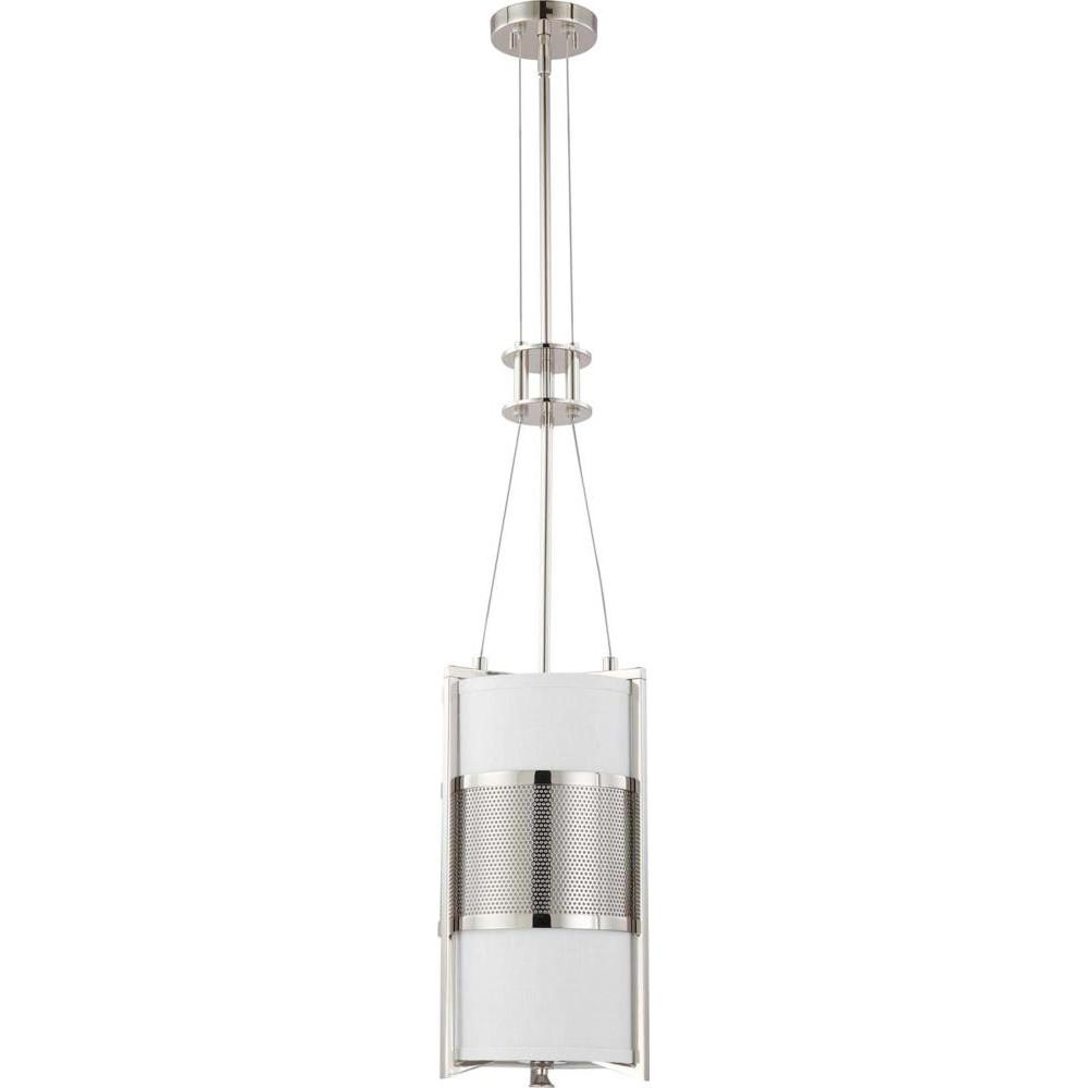 Nuvo Diesel ES - 1 Light Vertical Pendant w/ Slate Gray Fabric Shade - (1) 23w GU24 Lamp Incl.