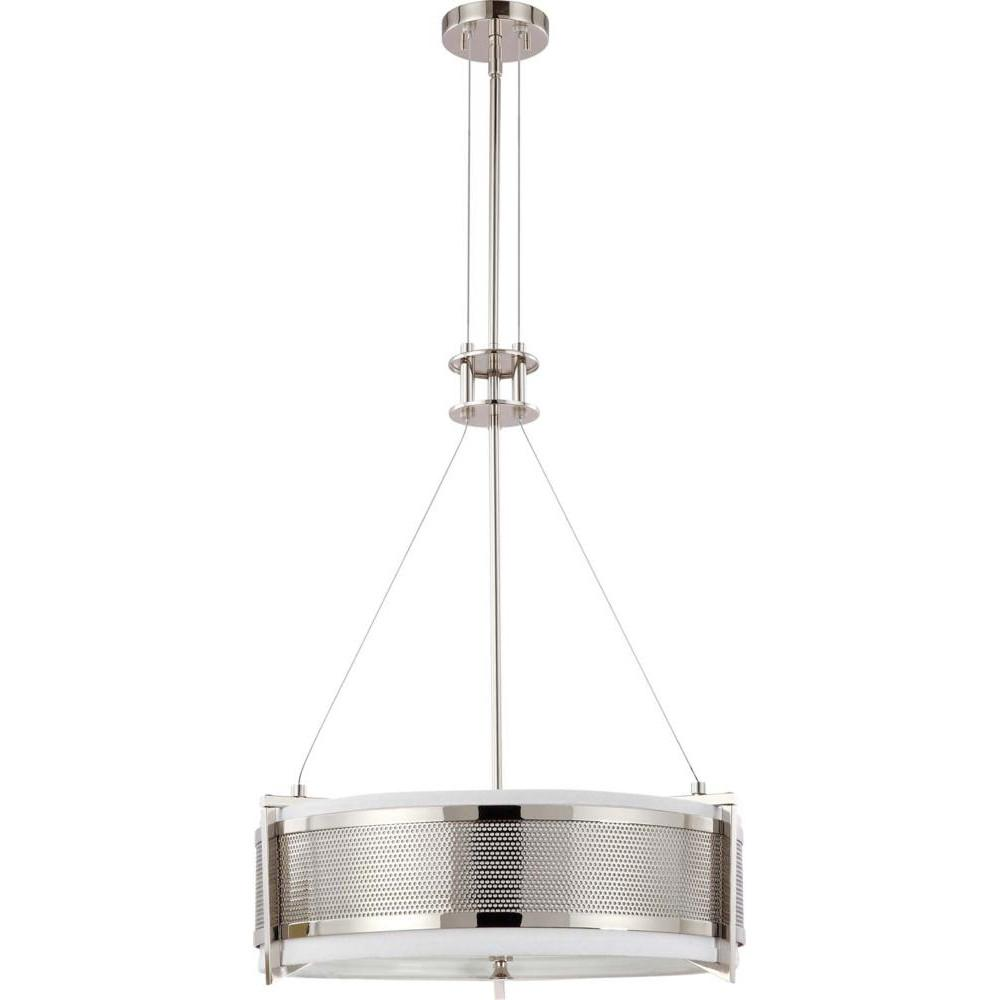 Nuvo Diesel ES - 4 Light Round Pendant w/ Slate Gray Fabric Shade - (4) 13w GU24 Lamps Incl.