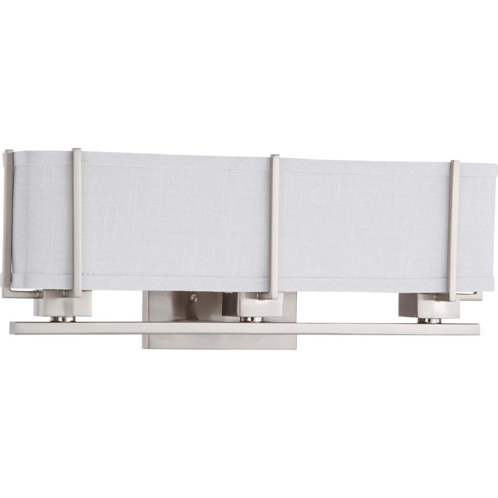 Nuvo Logan ES - 3 Light Sconce w/ Slate Gray Fabric Shade - (3) 13w GU24 Lamps Included