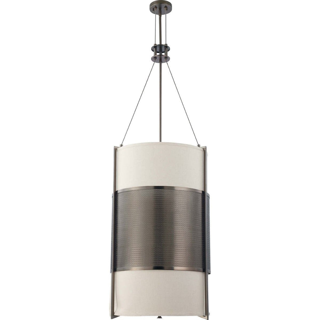 Nuvo Diesel - 6 Light Vertical Pendant w/ Khaki Fabric Shade