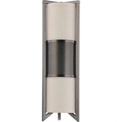 Nuvo Diesel - 3 Light Vertical Sconce w/ Khaki Fabric Shade