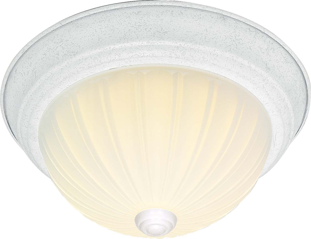 Nuvo 2 Light Cfl - 11 inch - Flush Mount - Frosted Melon Glass - (2) 13W GU24 Lamps Included