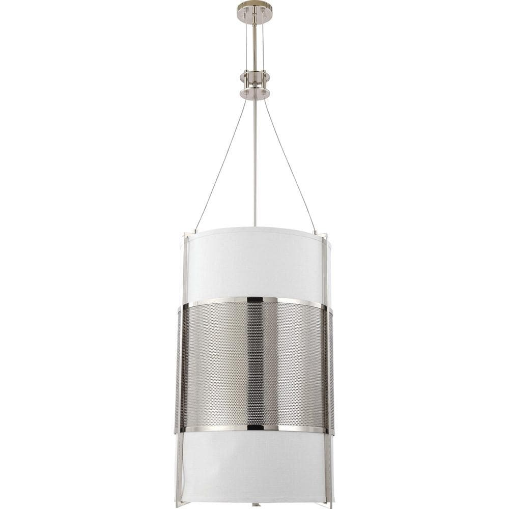 Nuvo Diesel - 6 Light Vertical Pendant w/ Slate Gray Fabric Shade