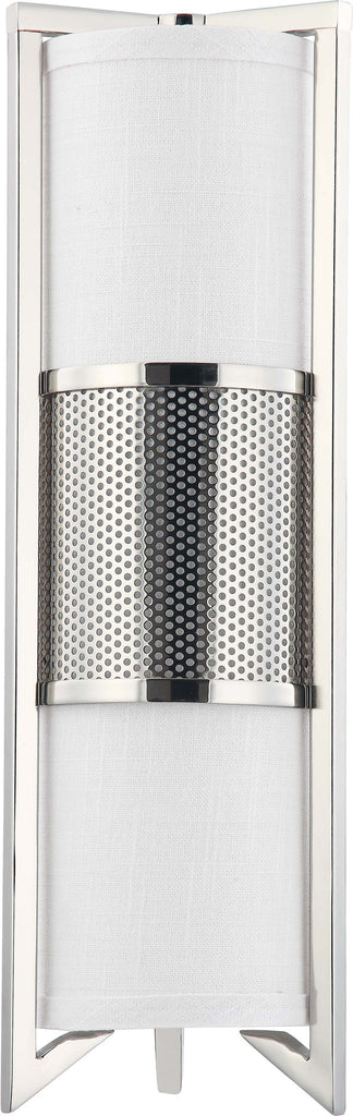 Nuvo Diesel - 3 Light Vertical Sconce w/ Slate Gray Fabric Shade