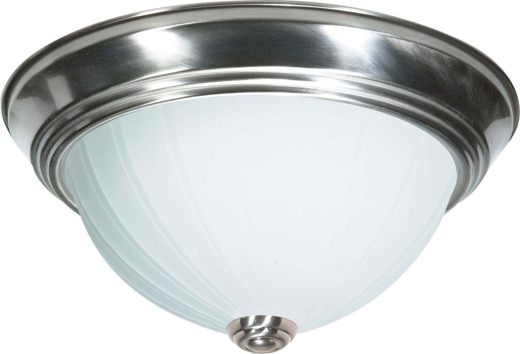 Nuvo 2 Light Cfl - 13 inch - Flush Mount - Frosted Melon Glass - (2) 13W GU24 Lamps Included