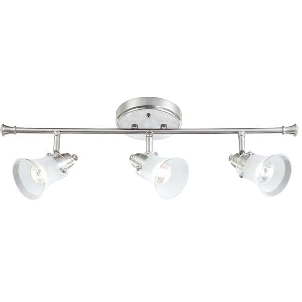 Nuvo Patrone - 3 Light Fixed Track Bar w/ Clear Frosted Glass, 50w Halogen Lamps
