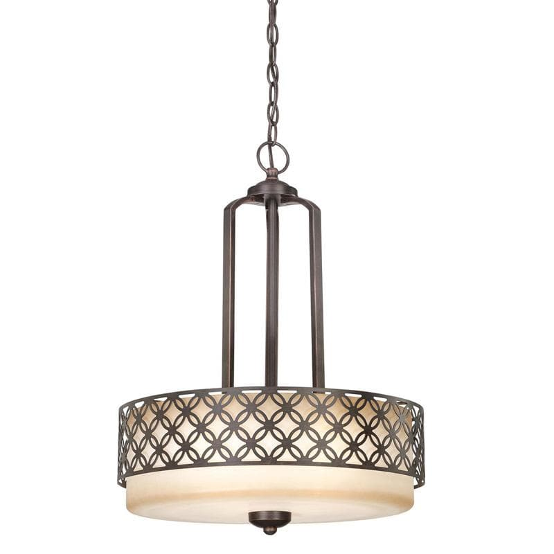 Nuvo Margaux - 3 Light Pendant w/ Chestnut Glass