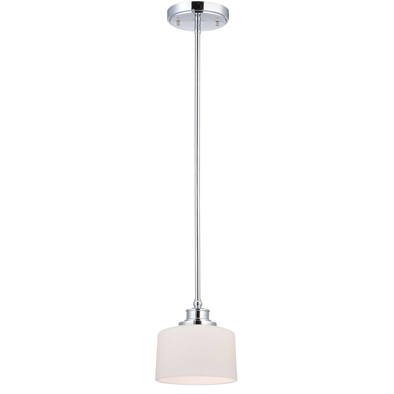 Nuvo Soho - 1 Light Mini Pendant w/ Satin White Glass