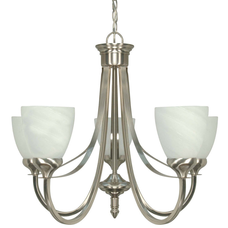 Nuvo Triumph - 5 Light Cfl - 24 inch - Chandelier - (5) 13W GU24 Lamps Included