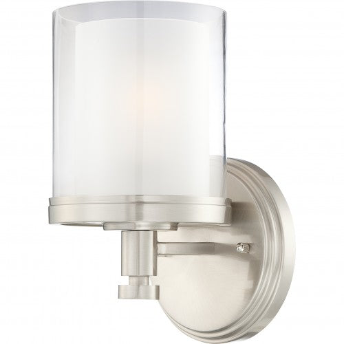 Nuvo Decker - 1 Light Vanity Fixture w/ Clear & Frosted Glass