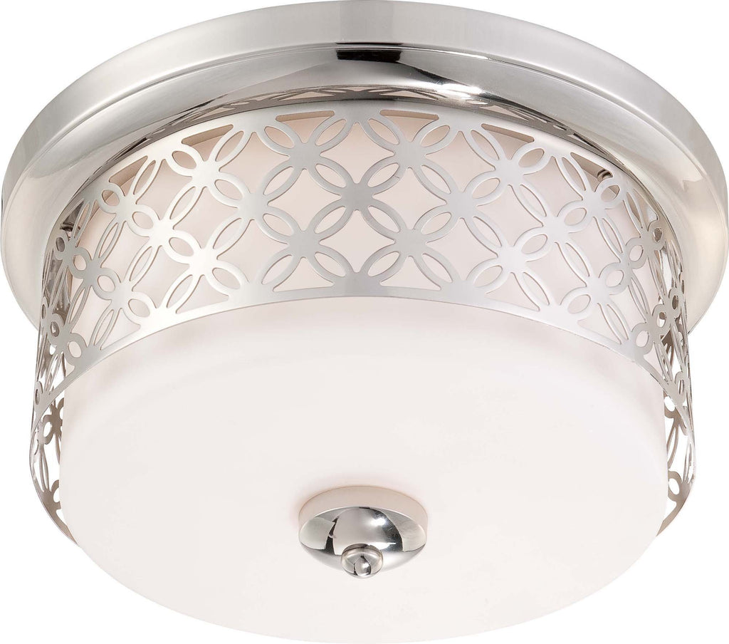 Nuvo Margaux - 2 Light Flush Dome Fixture w/ Satin White Glass