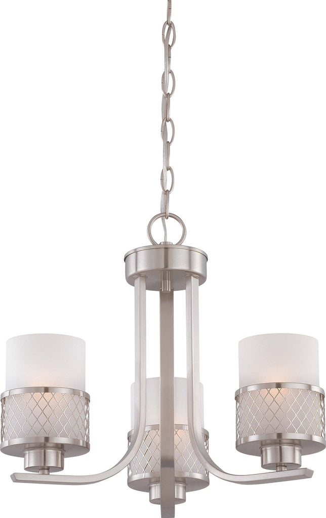 Nuvo Fusion - 3 Light Chandelier w/ Frosted Glass