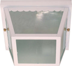 Nuvo 2 Light - 10 inch - Carport Flush Mount - With Textured Frosted Glass