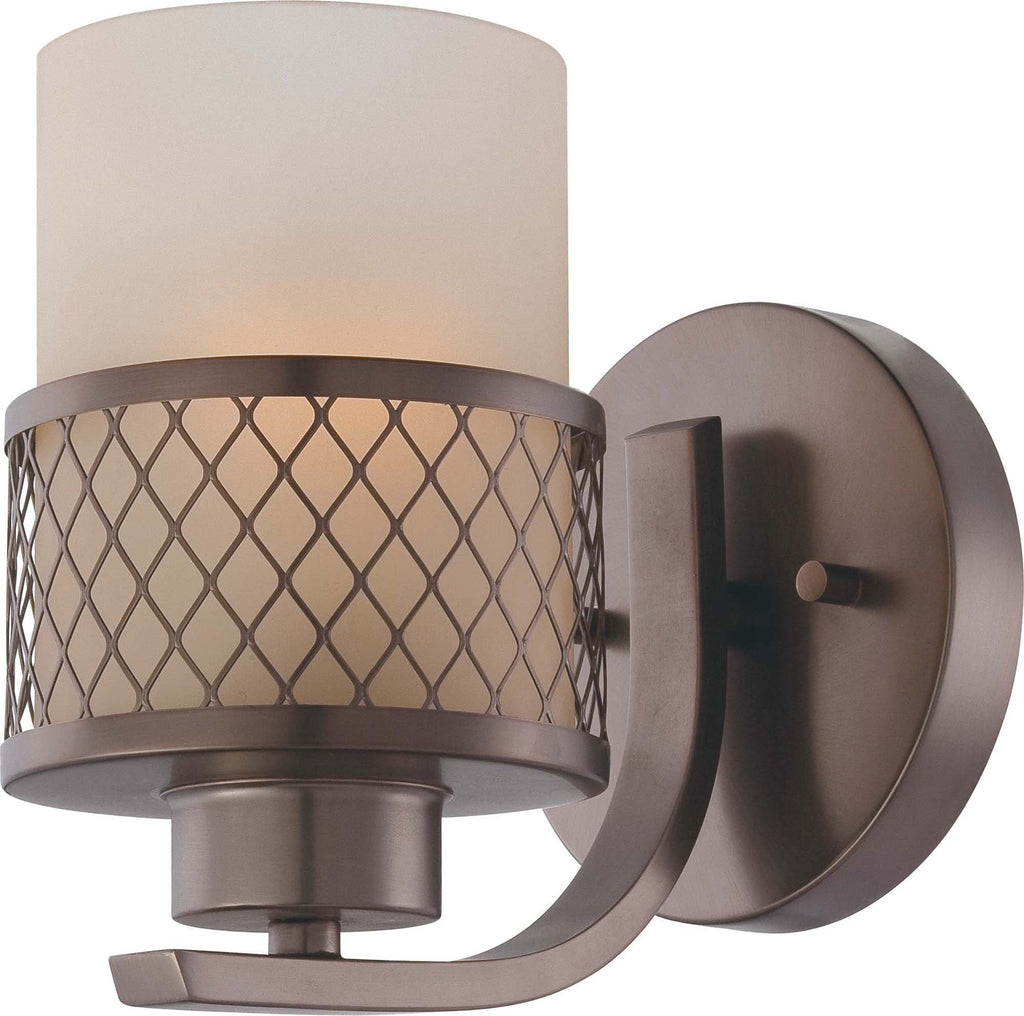 Nuvo Fusion - 1 Light Vanity Fixture w/ Russet Glass