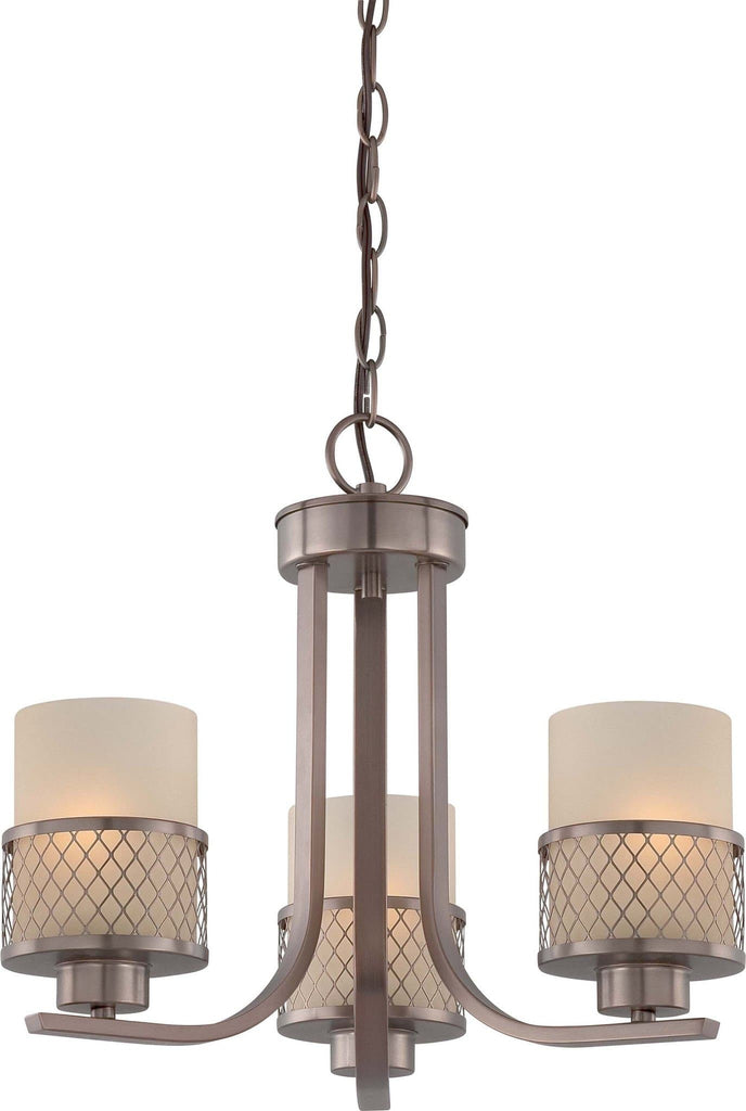 Nuvo Fusion - 3 Light Chandelier w/ Russet Glass
