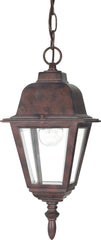 Nuvo Briton - 1 Light - 10 inch - Hanging Lantern - w/ Clear Glass