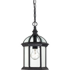"Boxwood - 1 Light - 14"" Outdoor Hanging W/ Clear Beveled Glass"