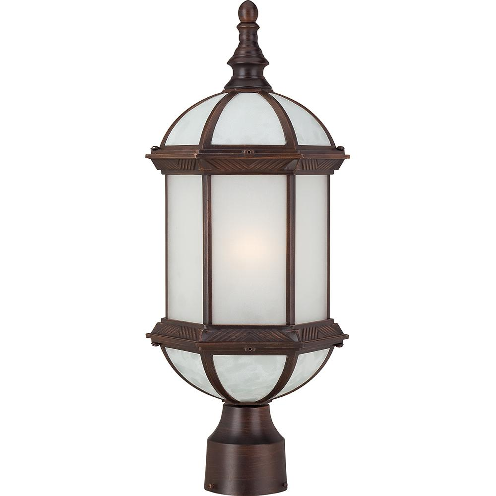 "Boxwood ES - 1 Light - 19"" Outdoor Post W/ Frosted Glass - Bulb Included"