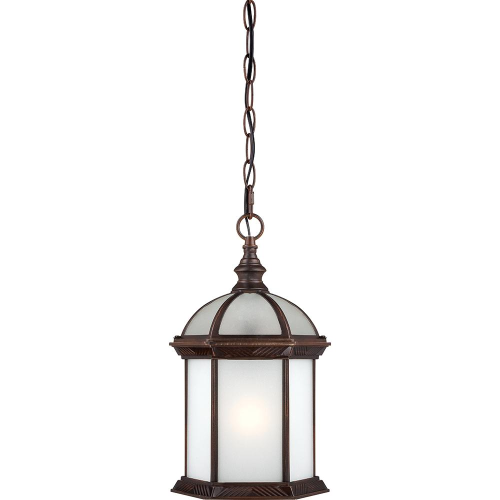 "Boxwood ES - 1 Light - 14""Outdoor Hang W/ Frosted Glass - Bulb Included"