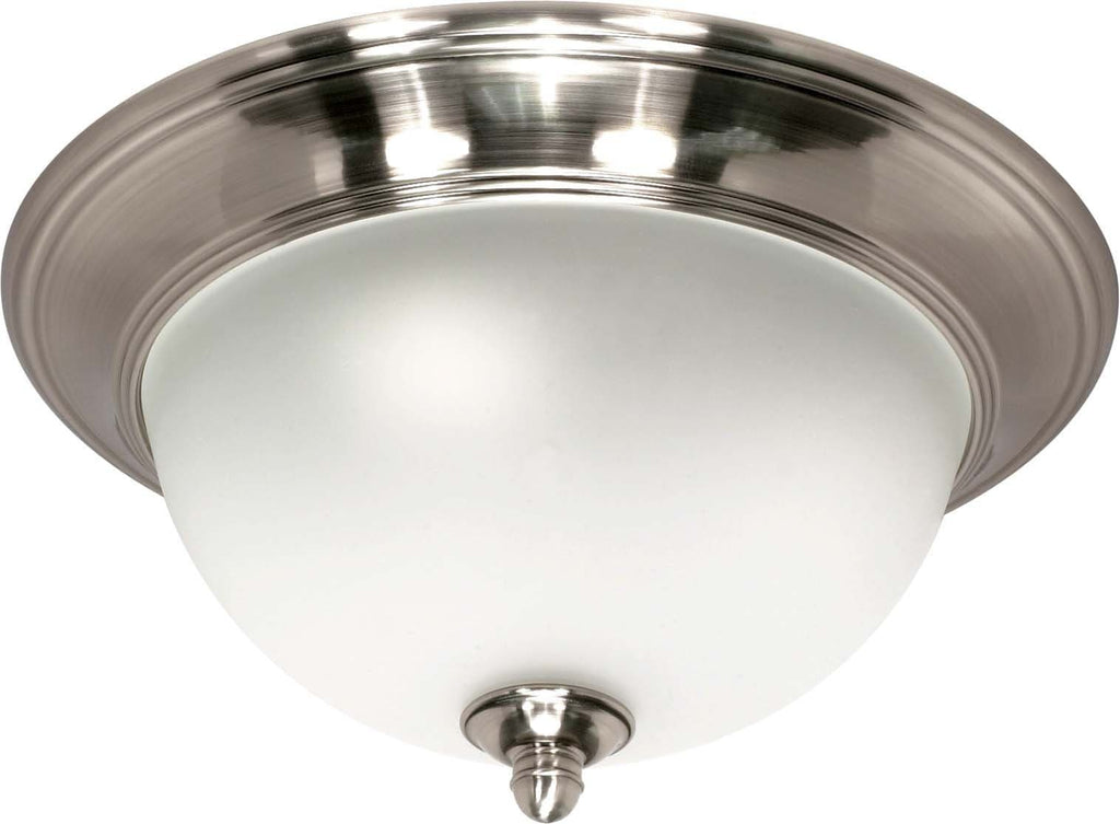 Nuvo Palladium - 2 Light Cfl - 14 inch - Flush Mount - (2) 13W GU24 Lamps Included