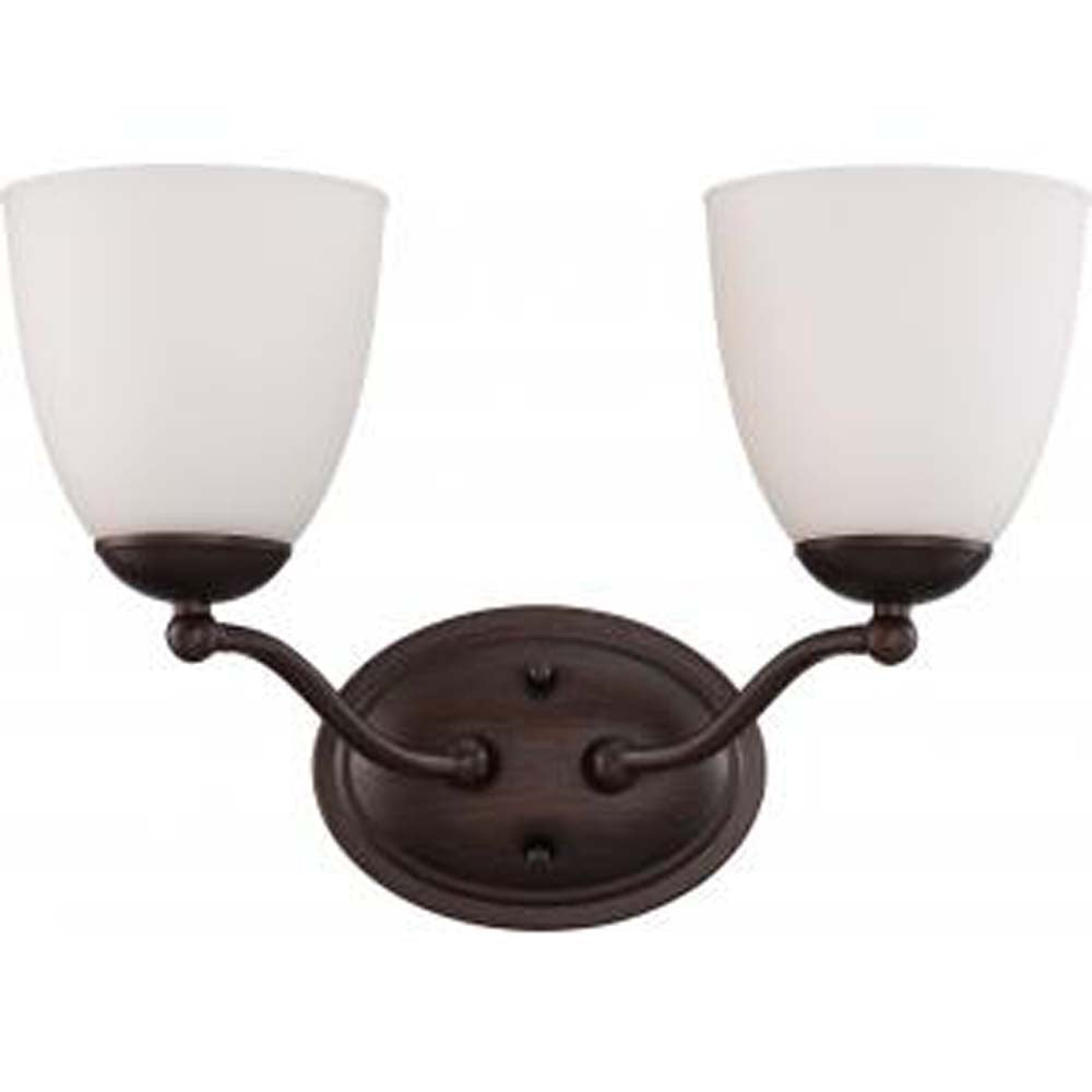 Patton - 2 Light Vanity Fixture w/ Frosted Glass