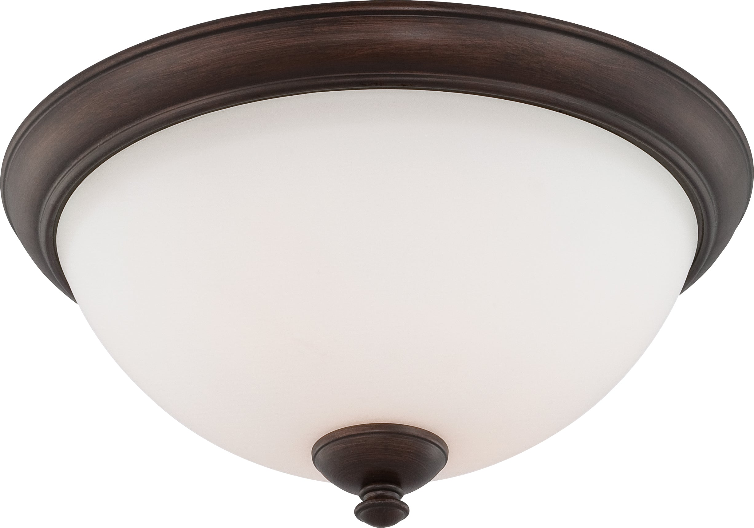 Nuvo Patton 3-Light Flush Dome Fixture w/ Frosted Glass in Prairie Bronze Finish